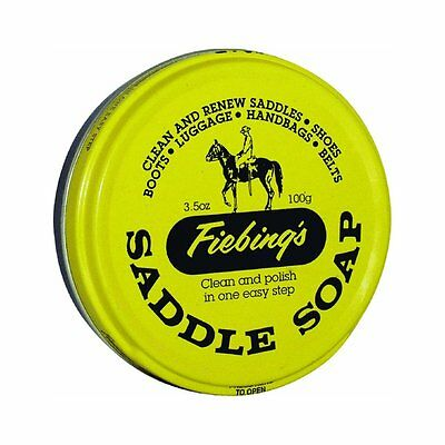Fiebing's Saddle Soap, Leather Cleather, Polish & Conditioner 3.5 oz - Yellow