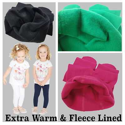 New Childrens Kids Girls Winter Thermal Cotton Leggings All Ages