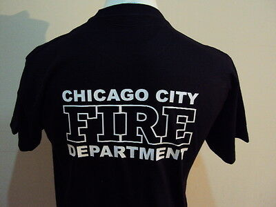 Chicago Firefighter American T Shirt- Fire & Rescue Service - Ukfrs