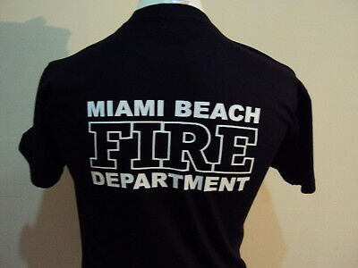 Miami Beach Firefighter American T Shirt- Fire & Rescue Service - Ukfrs