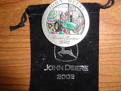 NEW John Deere 2002 4020 Tractor Pewter Ornament, No. 7 in Series PMDC02002