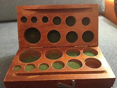 Vintage wooden case for balance scale weights / WITHOUT WEIGHTS