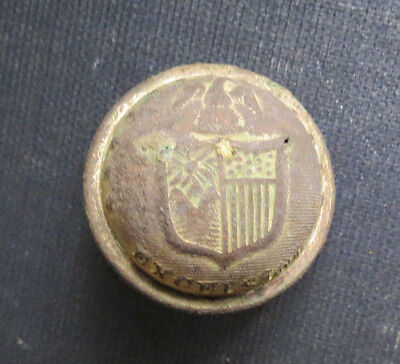 Civil War New York State Excelsior Button - Recovered