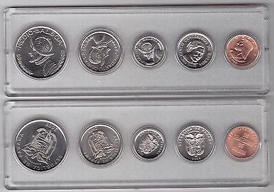 Panama - Bank Mint 5 Dif Unc Coins Set: 1 Centis - 0,5 Balboa 2008 Year