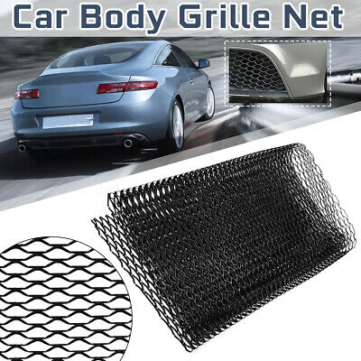 """Car Vehicle Body Grille Net 40X13"""" Universal Aluminum Black Mesh Grill Section"""