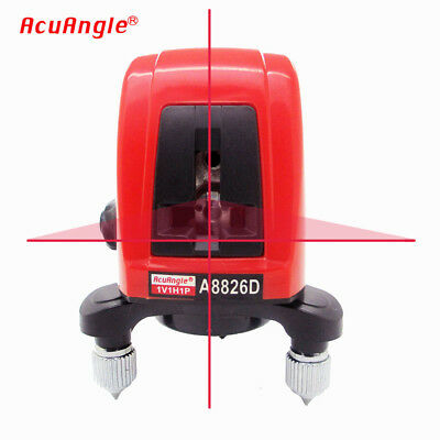 AK435 360 degree Self-leveling Cross Laser Level Red 2 Line-1 Point A8826D