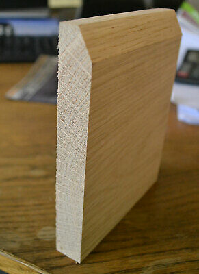 """Solid White Oak Skirting Board 1x5"""" PAR to Chamfer 20x125mm"""