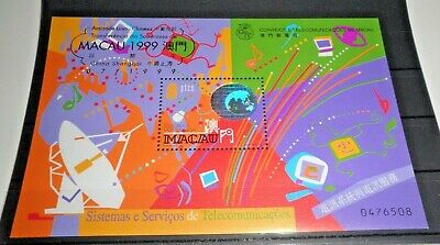 "Francobolli Stamps Macau 1999 ""telecommunications"" Mnh** Block (Cat.5)"