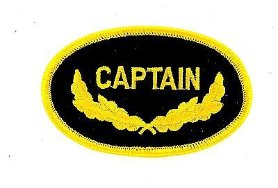Patch ecusson brode thermocollant marine naval aviation captain commandant