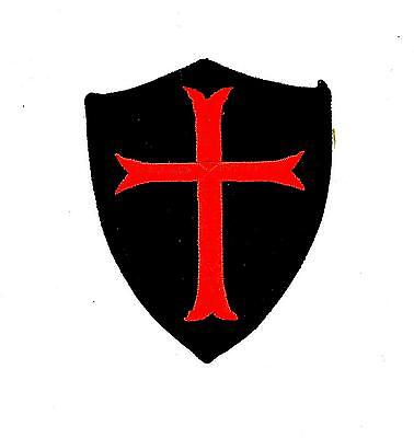 Patch ecusson brode thermocollant templier blason croisade airsoft chevalier r2