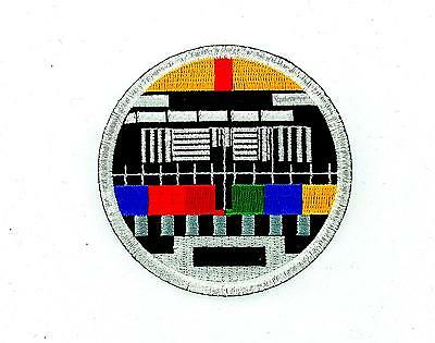 Patch ecusson brode thermocollant backpack ecran tv television screen