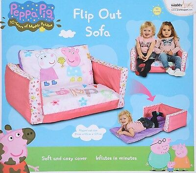 New Kids instant inflatable Flipout flip out sofa Peppa Pig