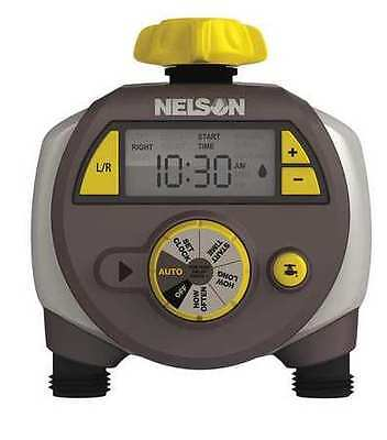 NELSON 33H549 Dual Outlet Water Timer, 6 Cycle