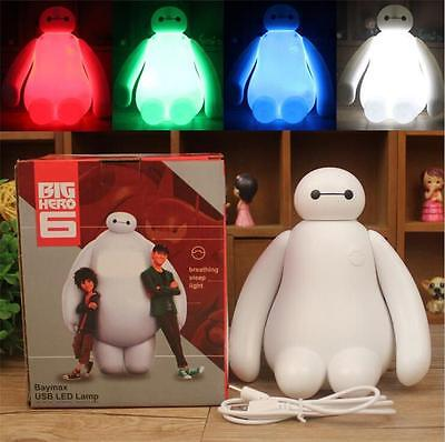 Changing Color Big Hero 6 Baymax USB LED Table Desk Lamp Light Christmas Gift