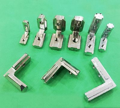 L Sliding Right Angle Built-in Corner Slot Groove Connector Aluminum Accessories