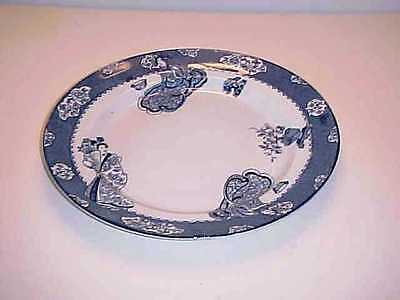 "Wood and Sons Tsing Blue 12"" Round Chop Plate"