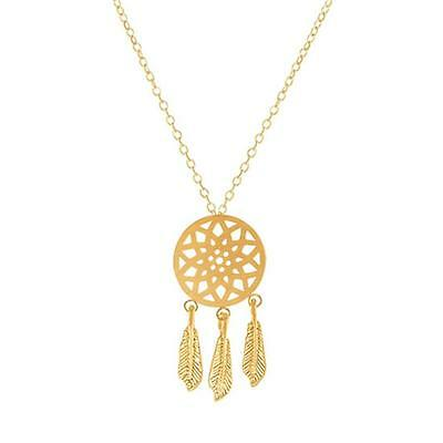 """Cool Dreamcatcher necklace - 18k Gold plated - 18""""  - Gorgeous Spiritual Gift"""