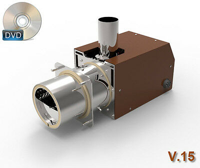 v.15 HOMEMADE PELLET BURNER / 3D models / instructions /blueprints/plans on DVD