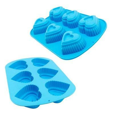 2 St Silikon Backform Kuchenform Herzform Teigschaber Set Silikonbackform Muffin