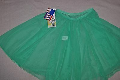 Nwt Bal Togs Adult size P/S or M/L Pull on Green Mesh Ballet Skirt item #M777