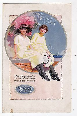 Advertising, Tylers Shoes And Tylerhose, Advert Card