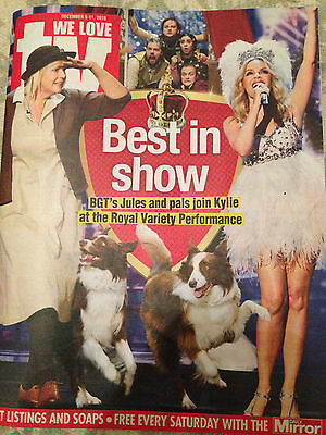 NEW TV Magazine December 2015 Kylie Minogue Royal Variety Philip Glenister Prey