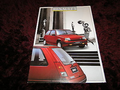 Renault 5 Brochure 07/1987 inc GTX & GT Turbo