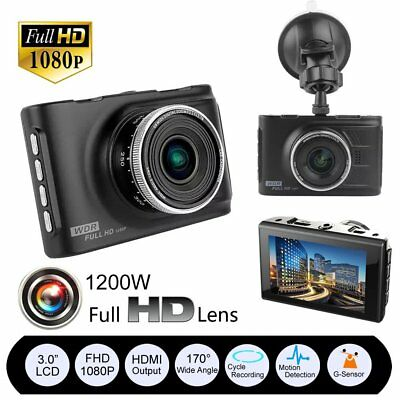 "3"" Full HD 1080P Car DVR CCTV Dash Camera G-sensor Vehicle Video Cam Recorder UK"