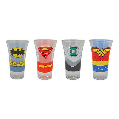 Justice League Character Shoot Glass Set