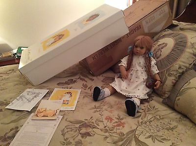 """1998 Annette Himstedt Lonneke DOLL, Certificate Box 24"""" Tall FREE EXPEDITED SHIP"""