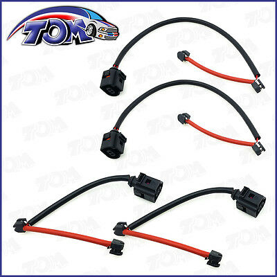 Brand New 4Pc Front And Rear Brake Pad Wear Sensors For 04-10 Touareg 07-09 Q7