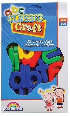 NEW Classic Craft 32 Lower Case Magnetic Letters from Mr Toys Toyworld