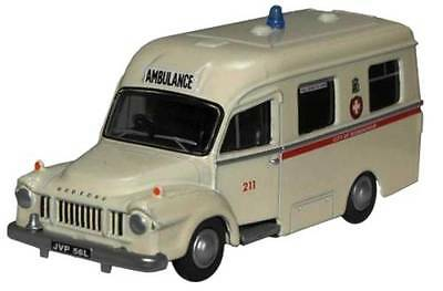 AMBULANCE BEDFORD J1 Lomas Birmingham 73x26mm OO 1/76 Scale DieCast Oxford 76BED