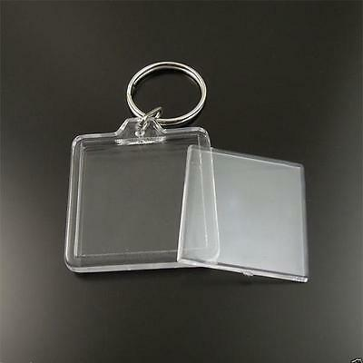 LOT de 2/5/10/25/50/100/250/500+++ DE PORTE CLE CLES PHOTO TRANSPARENT NEUF