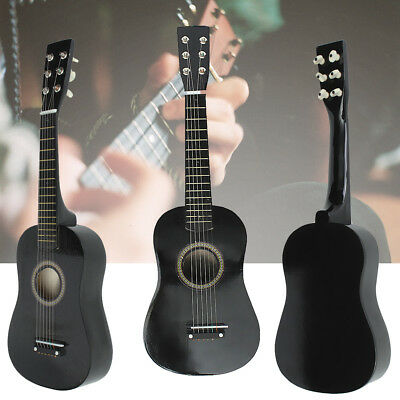 Popular Beginners Black Basswood Acoustic Guitar With Guitar Pick Wire Strings