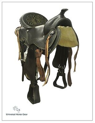 Supreme Western Saddle Genuine Cowhide Leather