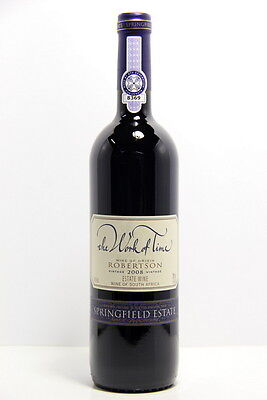 Springfield Estate Work of Time Bordeaux Blend 2008 Red Wine, Robertson