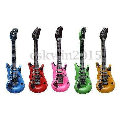 Cute Kids Inflatable Blow Up Rock Guitar Music Instrument Toy Costume Props