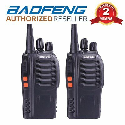 2 x Baofeng BF-888S UHF 400-470Mhz Two Way FM Radio Walkie Talkie + Earpiece UK
