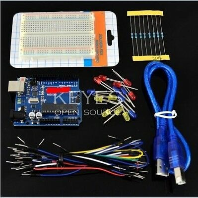 Basic Starter Kit UNO R3 Breadboard LED jumper Wire cable Resistance for Arduino