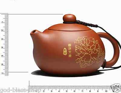 Chinese tea pot with infuser yixing zisha purple clay pot set floral print 120ml