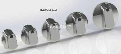 Universal Oven Cooktop Silver Knobs x 4 + Decals, Ask Us For All Appliance Parts