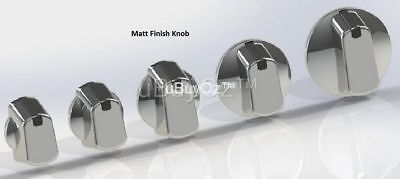 Universal Oven Cooktop Silver Knobs x 4 No Decals Ask Us For All Appliance Parts