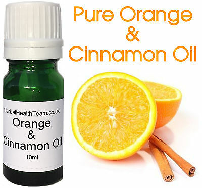 Pure Orange & Cinnamon Oil 10ml For Aromatherapy, Massage £1.45 CHEAPEST ON EBAY