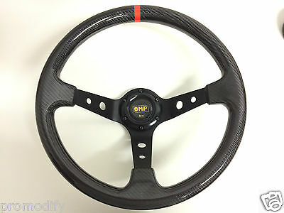 350mm Genuine Real Carbon Fibre Deep Dish Steering Wheel OMP MOMO NARDI SPARCO