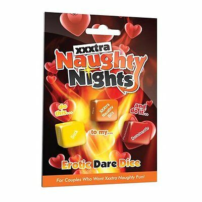 XXXtra Naughty Nights Erotic Dire Dice | Adult  Enhance Love Games DISCREET