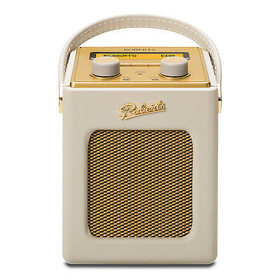 Roberts Revival Mini Pastel Cream Portable DAB FM RDS Digital Radio Retro