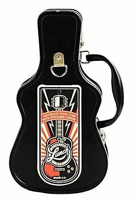 Metal Guitar Shaped Case Lunch Box By Suck UK Great Gift