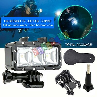 Underwater Waterproof Diving Spot Light LED Mount for GoPro Hero 4 3+ 3 Camera