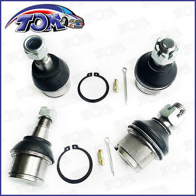 Brand New 4Pcs Upper & Lower Ball Joints For Dodge Ram 2500 3500 4Wd